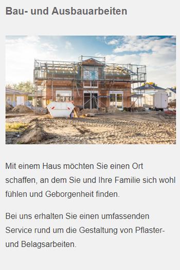 Bau Ausbauarbeiten für  Schönaich