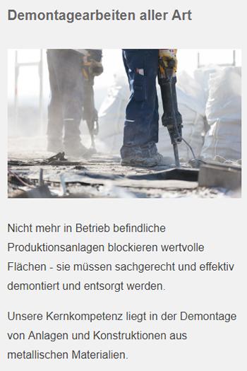 Demontagearbeiten in  Filderstadt