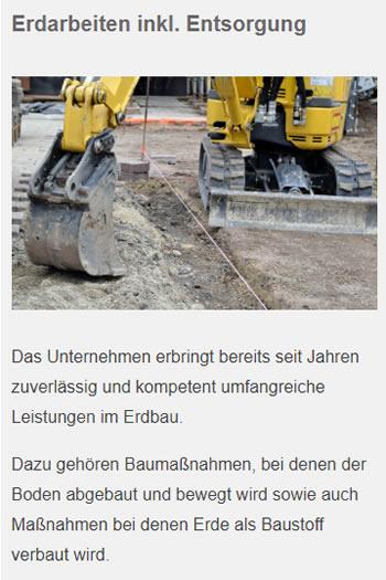 Erdarbeiten in  Magstadt