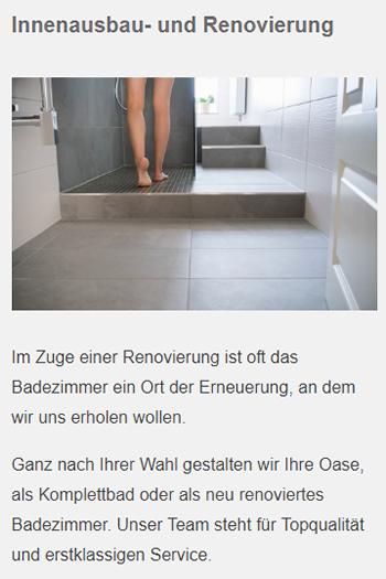 Innenausbau ✓ Renovierung aus  Magstadt - Talziegelei, Talmühle und Renningen