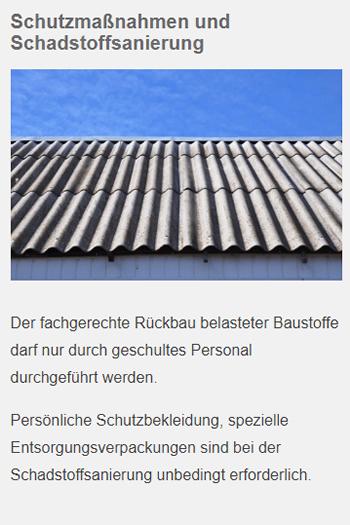 Schutzmassnahmen Schadstoffsanierung in  Ehningen