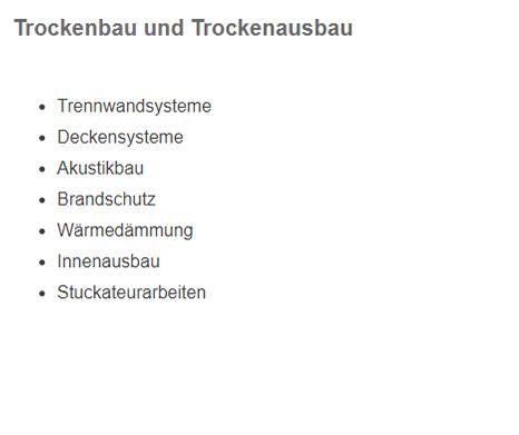 Trockenbau für 70794 Filderstadt