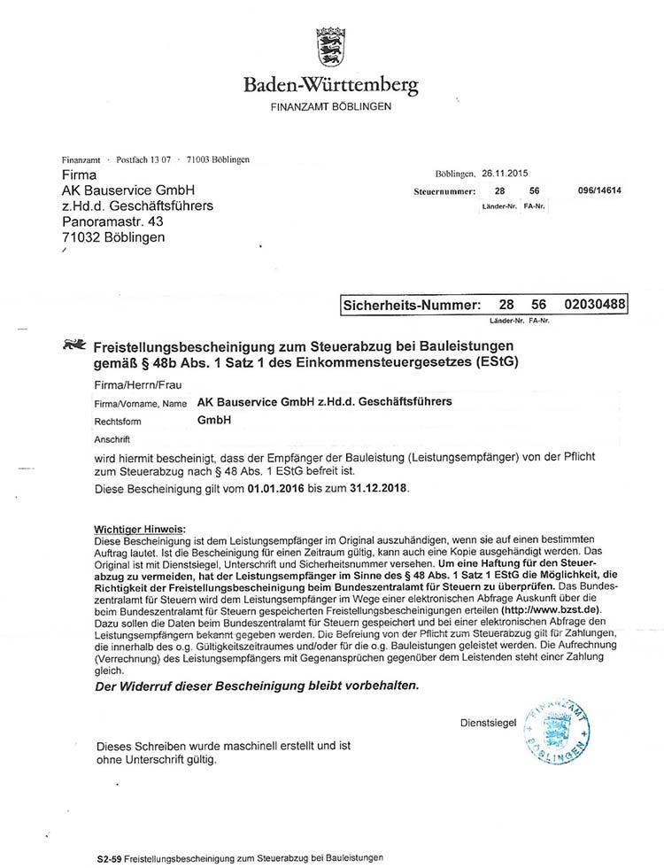 ak-bauservice-freistellungsbescheinigung-estg