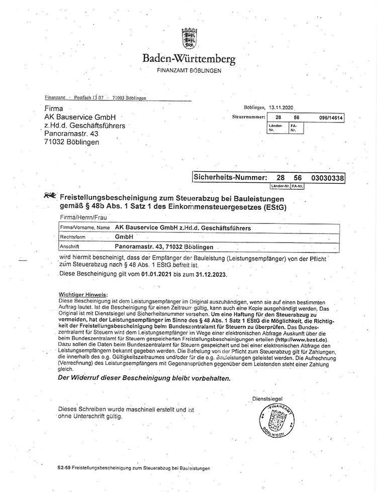 ak-bauservice-freistellungsbescheinigung-estg-2021